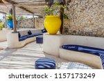 mediterranean style interior in ... | Shutterstock . vector #1157173249