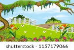 a beautiful nature landscape... | Shutterstock .eps vector #1157179066
