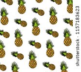 color exotic pineapple tropical ... | Shutterstock .eps vector #1157183623