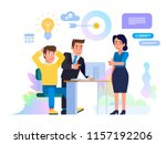 business meeting concept.... | Shutterstock .eps vector #1157192206