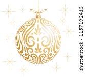 maori koru gold xmas bauble... | Shutterstock .eps vector #1157192413