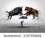 stock market crash security and ... | Shutterstock . vector #1157193646