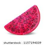 dragon fruit isolated on white...   Shutterstock . vector #1157194039