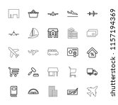 commercial icon. collection of... | Shutterstock .eps vector #1157194369
