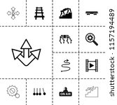 motion icon. collection of 13...   Shutterstock .eps vector #1157194489