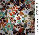 vector flower illustration... | Shutterstock .eps vector #1157195719