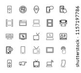 screen icon. collection of 25... | Shutterstock .eps vector #1157197786