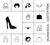 glamour icon. collection of 13... | Shutterstock .eps vector #1157197906