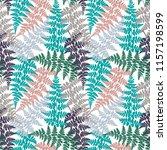 fern frond herbs  tropical... | Shutterstock .eps vector #1157198599