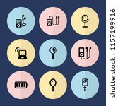 set of 9 portable filled icons... | Shutterstock .eps vector #1157199916
