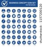 business vector icon set | Shutterstock .eps vector #1157200120