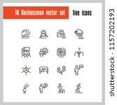 businessman icons. set of line... | Shutterstock .eps vector #1157202193