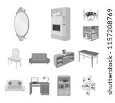 furniture and interior... | Shutterstock .eps vector #1157208769