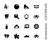 recreation icon. collection of... | Shutterstock .eps vector #1157209150