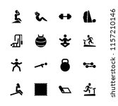 gym icon. collection of 16 gym... | Shutterstock .eps vector #1157210146