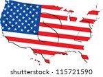vector american flag map... | Shutterstock .eps vector #115721590