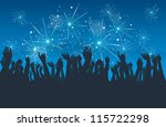 vector silhouettes of people... | Shutterstock .eps vector #115722298