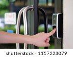 track employee hours and door... | Shutterstock . vector #1157223079