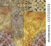 abstract pale  patterned lace ... | Shutterstock . vector #1157223223