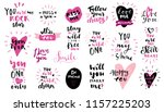 set of love vintage hand drawn... | Shutterstock .eps vector #1157225203