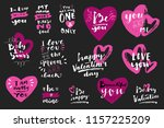 set of valentine's day hand... | Shutterstock .eps vector #1157225209