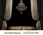 Image Of Grunge Dark Room...