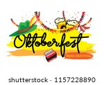 oktoberfest banner and... | Shutterstock .eps vector #1157228890