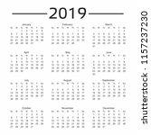 calendar for 2019. vector | Shutterstock .eps vector #1157237230