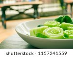 close up of slice or cut green...   Shutterstock . vector #1157241559