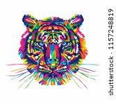 colorful tiger vector... | Shutterstock .eps vector #1157248819