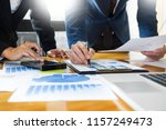 team work process. young... | Shutterstock . vector #1157249473