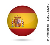 spain glossy round button.... | Shutterstock .eps vector #1157253250