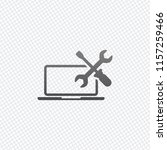 laptop repair service. on grid... | Shutterstock .eps vector #1157259466