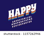 vector of stylized modern font... | Shutterstock .eps vector #1157262946