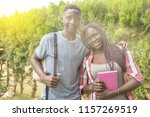 african teenager couple happy... | Shutterstock . vector #1157269519