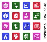approve icons. white flat...   Shutterstock .eps vector #1157270230