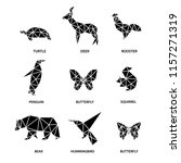 set of animals from polygons. | Shutterstock .eps vector #1157271319