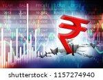 indian rupee crisis concept ... | Shutterstock . vector #1157274940