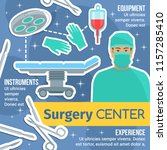surgery medicine poster of... | Shutterstock .eps vector #1157285410