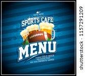 sports cafe menu card design ... | Shutterstock .eps vector #1157291209