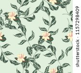 elegance pattern with flowers... | Shutterstock .eps vector #1157298409