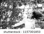 happy child dance to music in...   Shutterstock . vector #1157301853