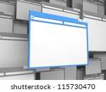 blue computer window. isolated... | Shutterstock . vector #115730470
