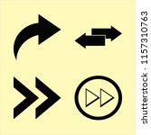 forward vector icons set. with... | Shutterstock .eps vector #1157310763