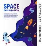astronaut exploring space.... | Shutterstock .eps vector #1157311093