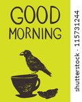 beautiful yellow morning... | Shutterstock .eps vector #115731244