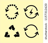 ecological vector icons set.... | Shutterstock .eps vector #1157312620
