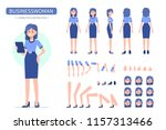 business woman character... | Shutterstock .eps vector #1157313466