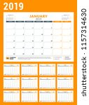 calendar planner for 2019 year. ... | Shutterstock .eps vector #1157314630