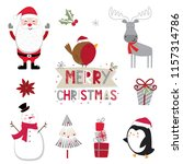 cute collection christmas sets. ... | Shutterstock .eps vector #1157314786